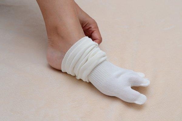 靴下./5本指の靴下です.素材は綿と絹です.