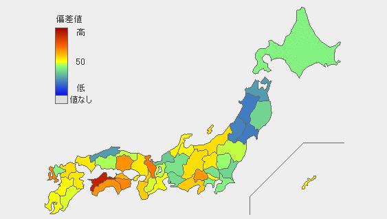 パン好き 県民マップ