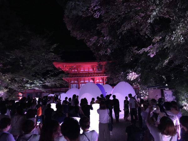 下鴨神社 チームラボ イベント