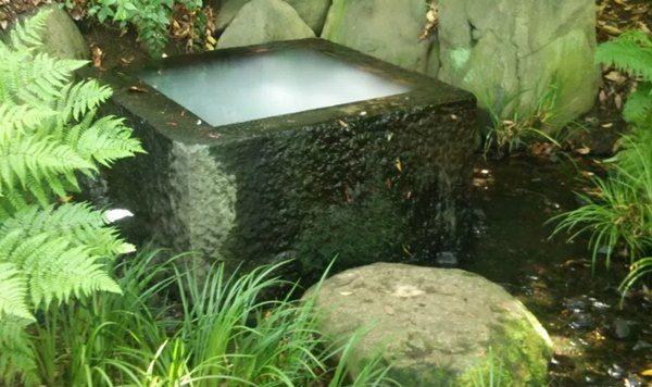 二の丸庭園の奥の不思議な井戸