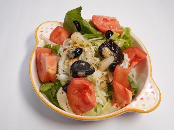 野菜サラダ 黒にんにく