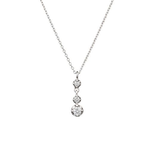 K10ホワイトゴールドネックレス K10ホワイトゴールド、ダイヤモンド