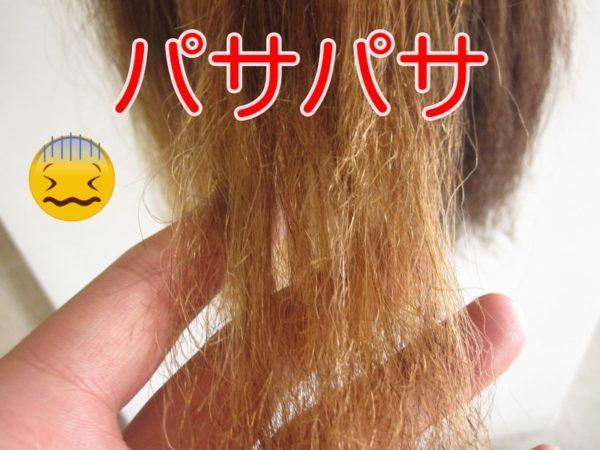 髪の毛がパサパサ!改善するには原因を考えたら簡単だった!